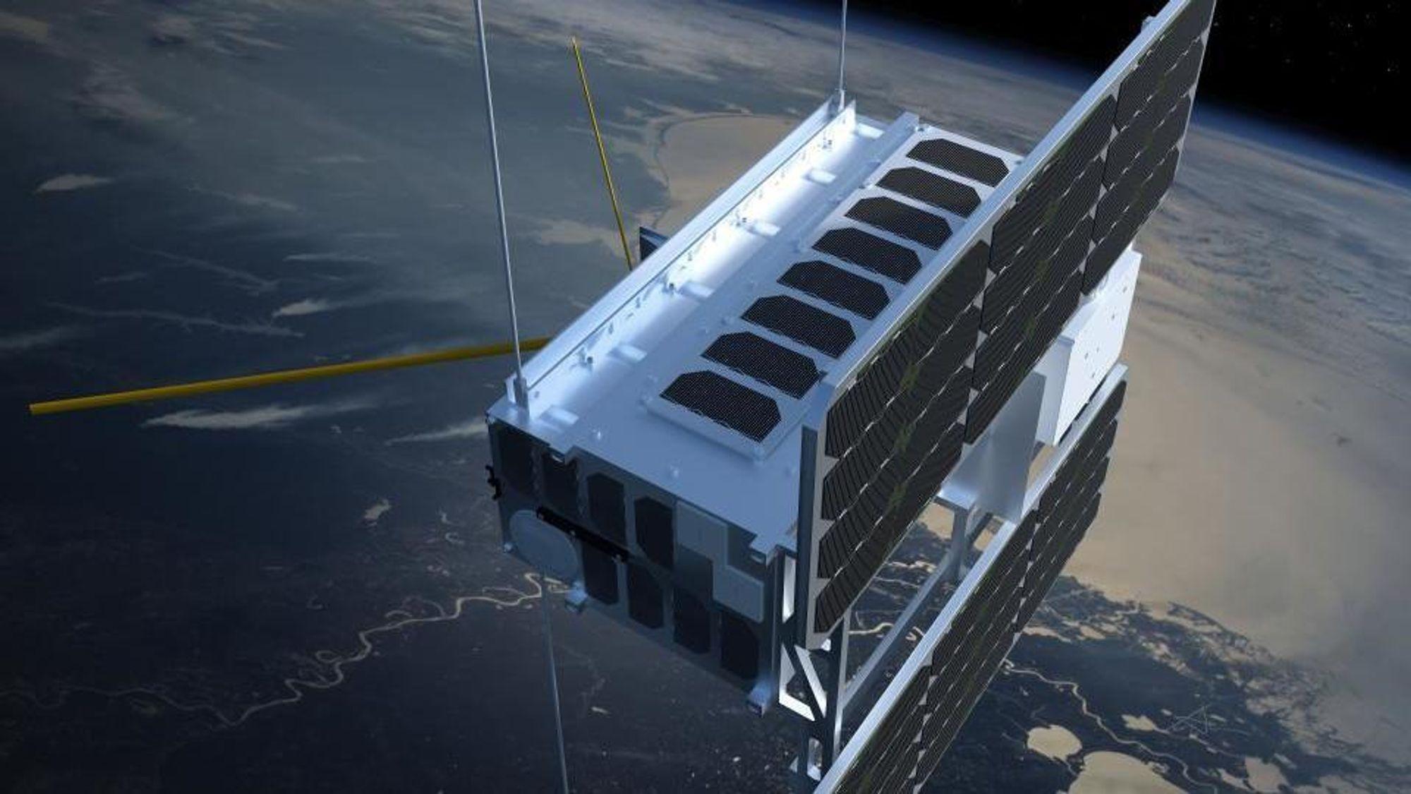 NorSat-1 og 2 skal skytes opp fredag.