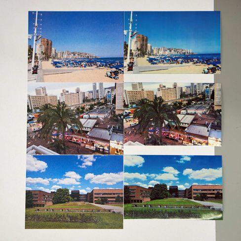 Bilder fra laserprinter til venstre, Sprocket til høyre.