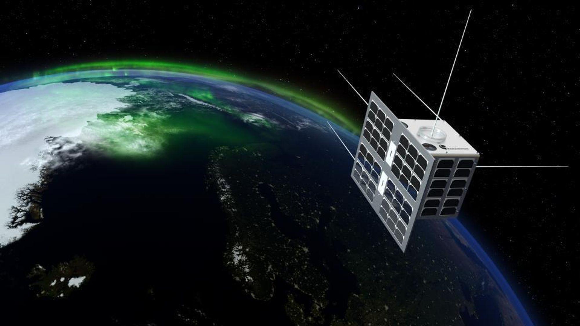 Norsat-1 er Norges første satellitt med et vitenskapelig instrument.