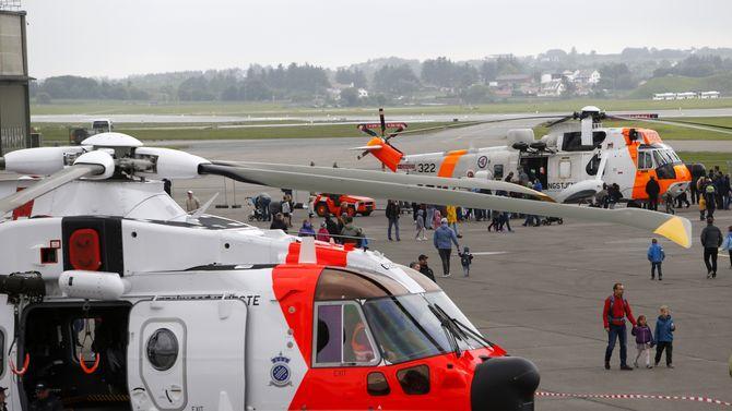 AW101 og Sea King på utstilling på Sola airshow i juni.