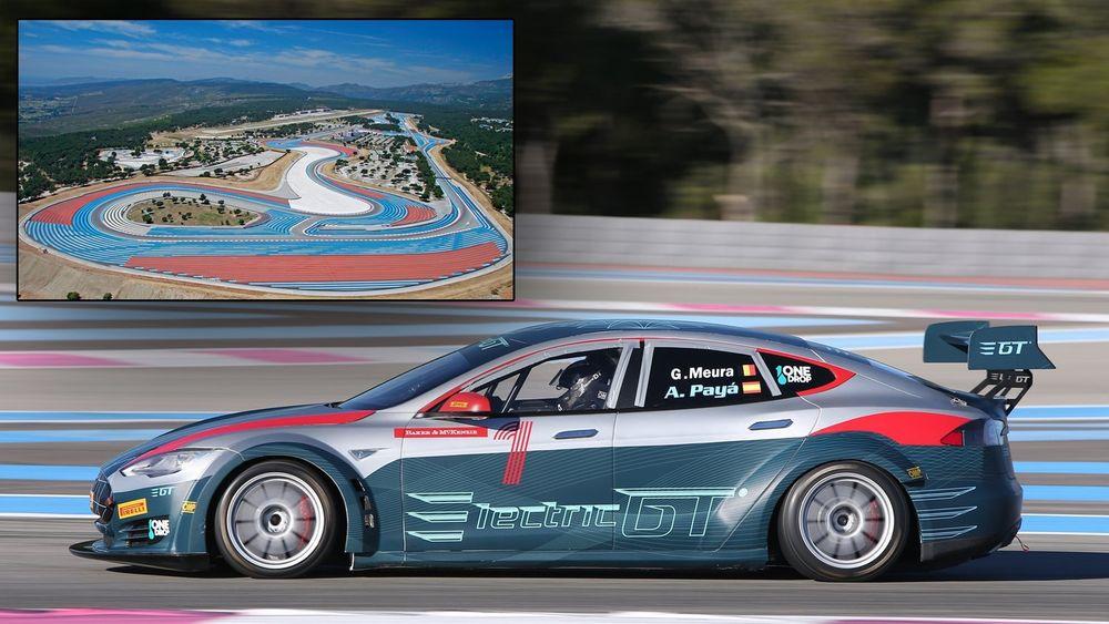De to første løpene i den nye elektriske GT-serien arrangeres her på Circuit Paul Ricard den siste helga i november.