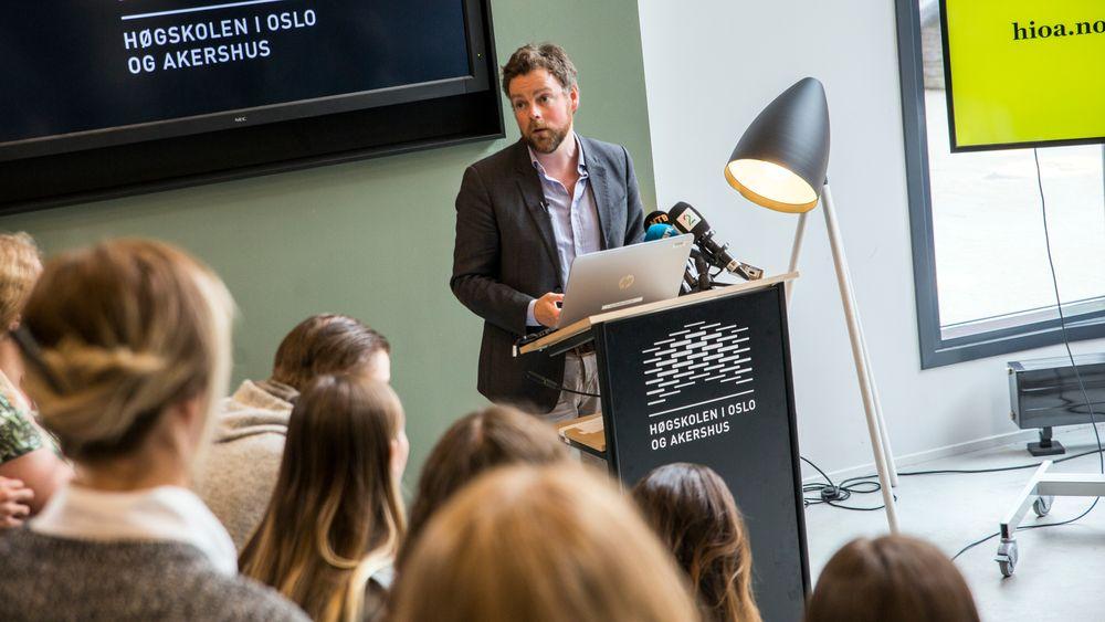 Kunnskapsminister Torbjørn Røe Isaksen kommenterte søkertallene fra Samordna opptak onsdag.