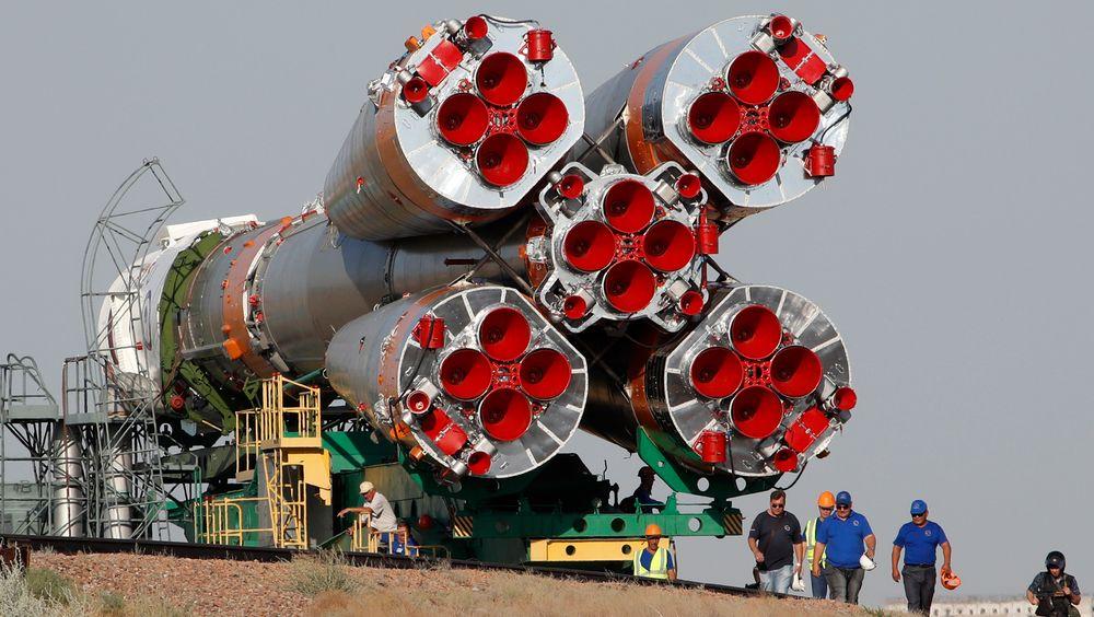 Den russiske Soyuz-raketten skal til den internasjonale romstatsjonen, og kan kanskje sees på himmelen natt til lørdag.