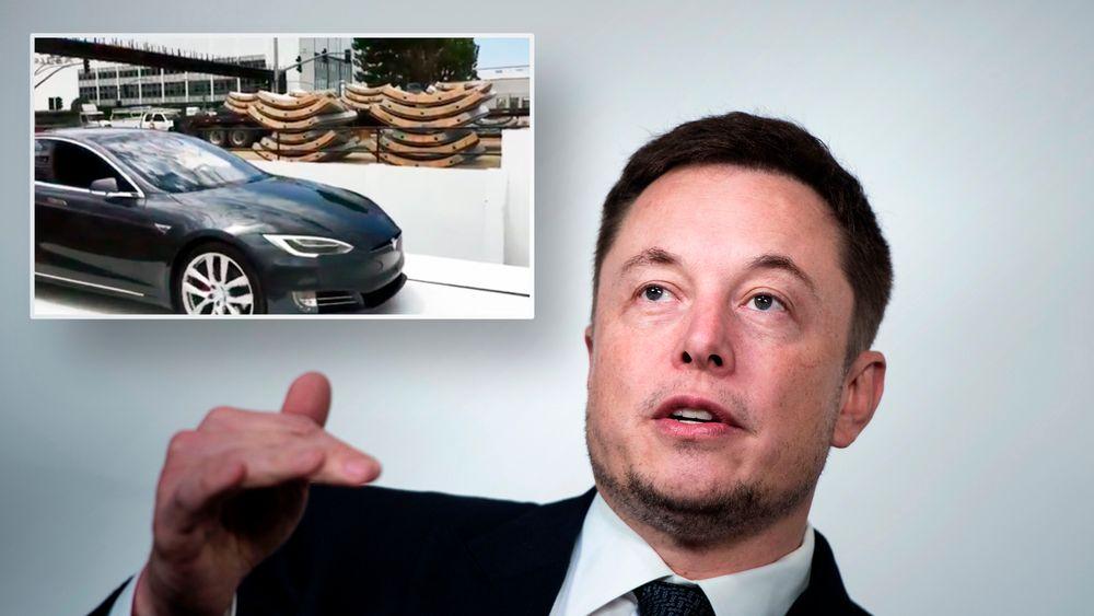 Elon Musk har lagt ut to videoer på Instagram hvor han viser frem en tidlig versjon av bilheisen han planlegger å bruke i the Boring Company.