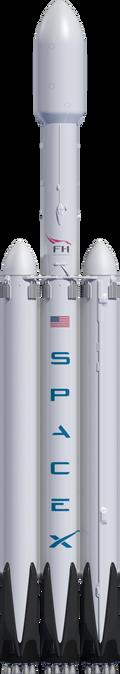 Slik ser Falcon Heavy-raketten ut.