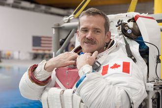 Chris Hadfield i astronautdress i 2013