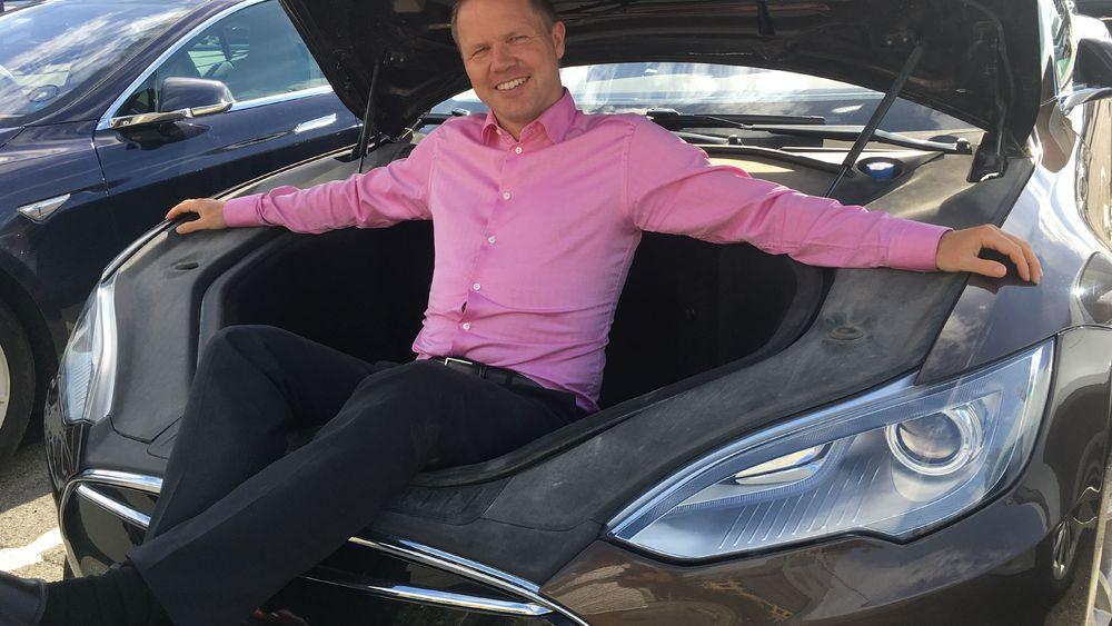 Rune Brunborg, leder hos Tribe Venneforsikring, var først ute med en spesialisert elbilforsikring. Foto: Tribe.