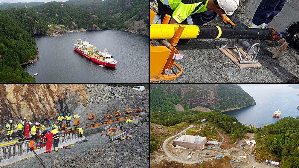 Et av verdens største spesialbyggede kabelleggingsfartøy, Nexans Skagerak, står for kabelleggingen. Arbeidet startet 1. august, og i løpet av ti dager skal 124 kilometer med kabel legges. Det er det første strekket mellom Norge og Tyskland.