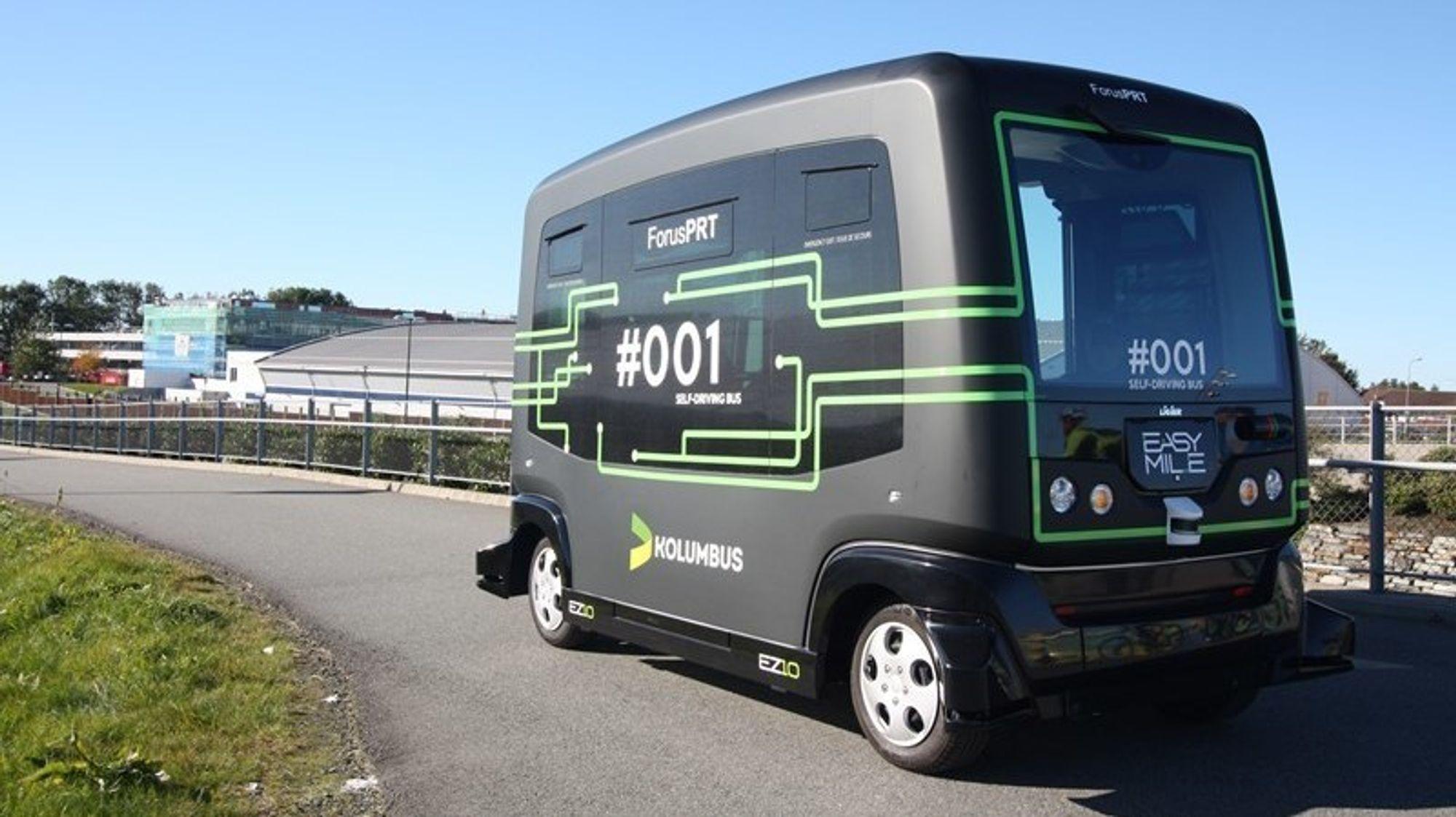 De førerløse bussene på Forus i Stavanger er klar for andre fase av testperioden. Men først må Stortinget vedta forslaget om reglement for autonome kjøretøy.