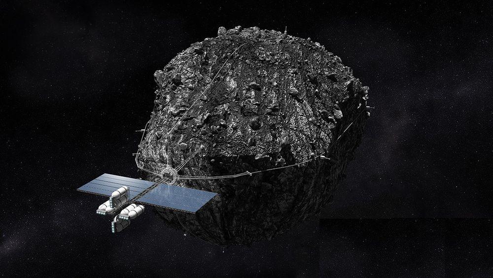 Flere bedrifter som Planetary Ressources og Deep Space Industries, som har laget denne illustrasjonen, jobber med å utvinne ressurser i rommet. Luxembourgs nye lov vil gi investorene trygghet for at bedriftene har eiendomsretten til det de utvinner.