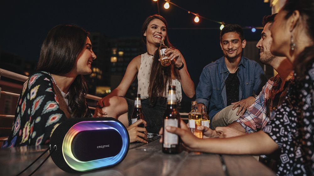 Creative Halo Portable Bluetooth Light Show Speaker