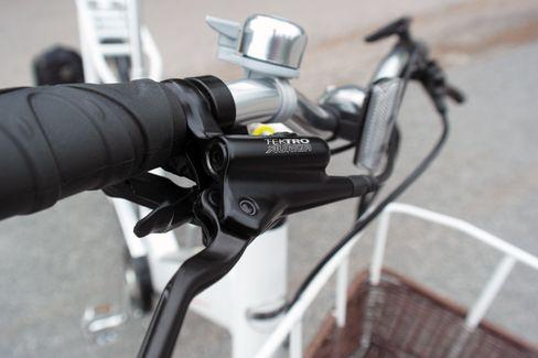 Sykkelen fra Biltema har hydrauliske skivebremser.
