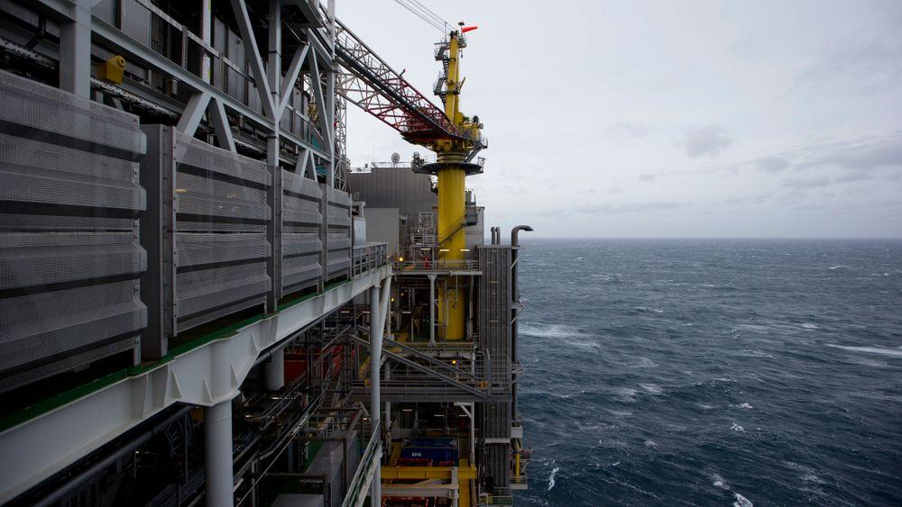 Eksteriør på Edvard Grieg-plattformen. Edvard Grieg-feltet er et oljefelt som ligger på Utsirahøyden i Nordsjøen, 180 km vest for Stavanger. Det ble påvist olje i feltet i 2007, og oljeproduksjonen ble startet opp i november 2015. Foto: Håkon Mosvold Larsen / NTB scanpix