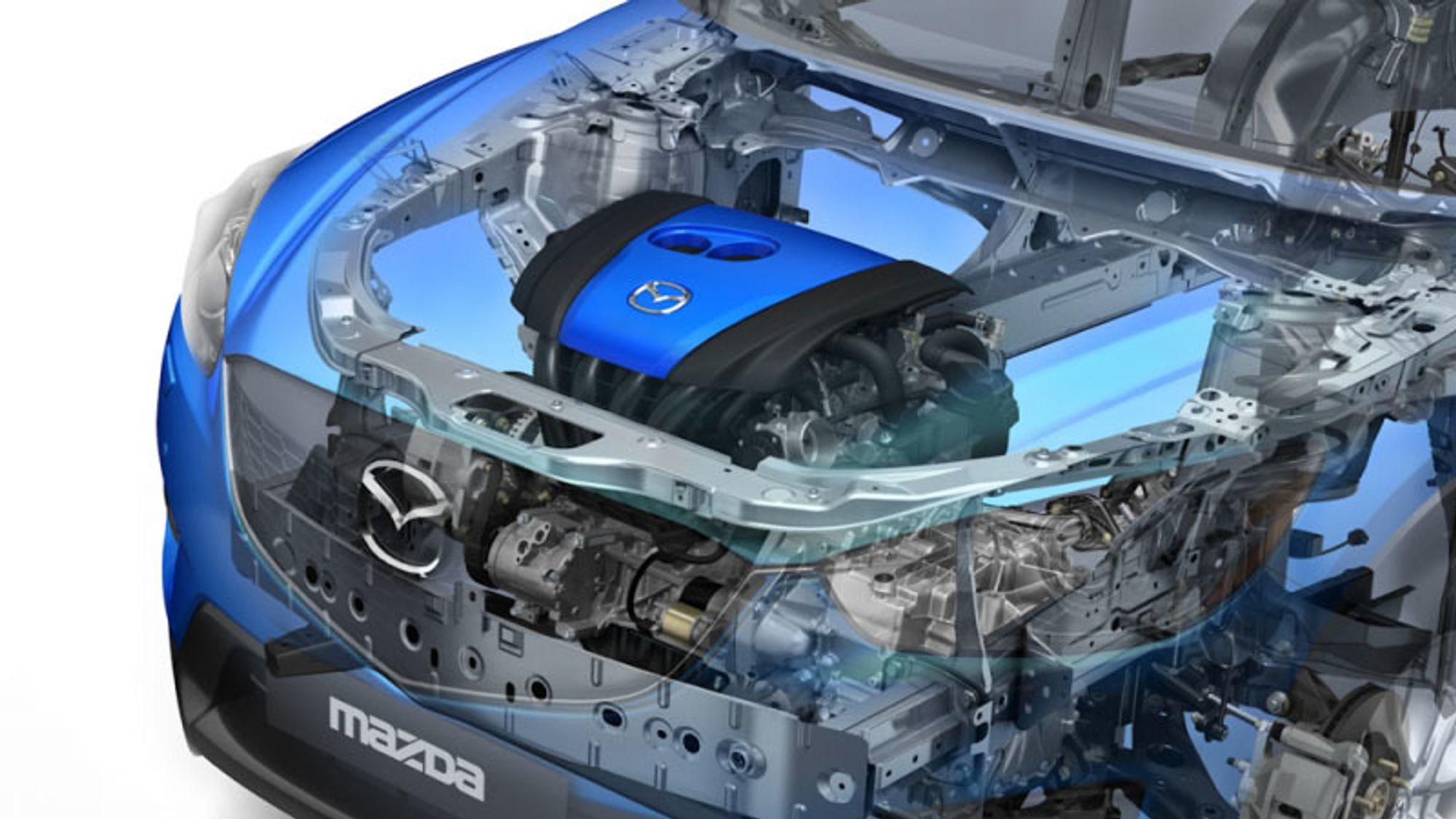 Planene til Mazda innebærer at bensinmotorene vil bli mer effektive enn produsentens dieselmotorer.