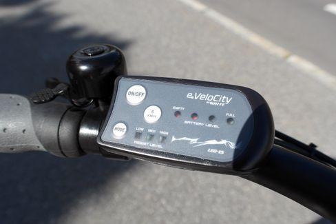 Slik ser displayet på XXL-sykkelen ut.