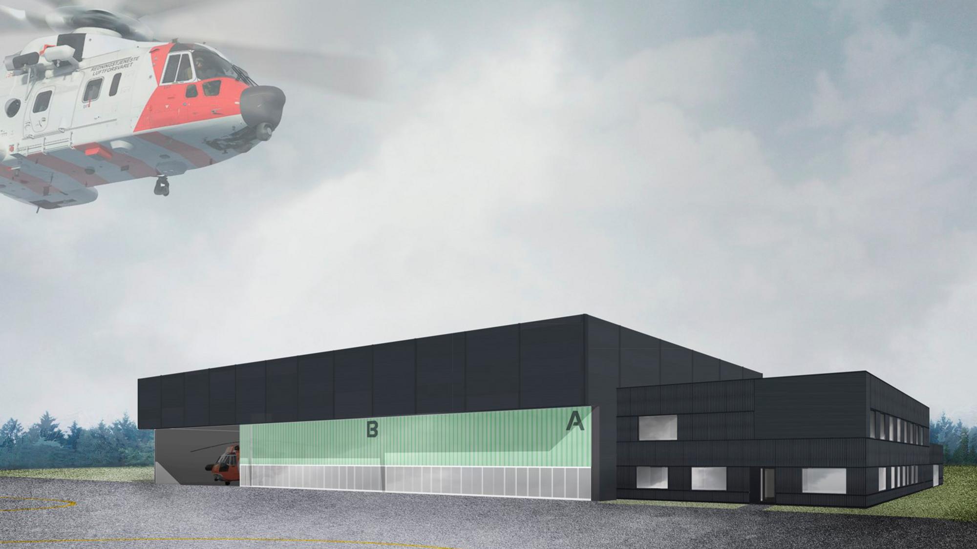 Moderne løft: Forsvarsbygg skal på oppdrag fra Justis- og beredskapsdepartementet få på plass bygg og anlegg for redningshelikoptertjenestens nye helikoptre på seks steder over hele landet