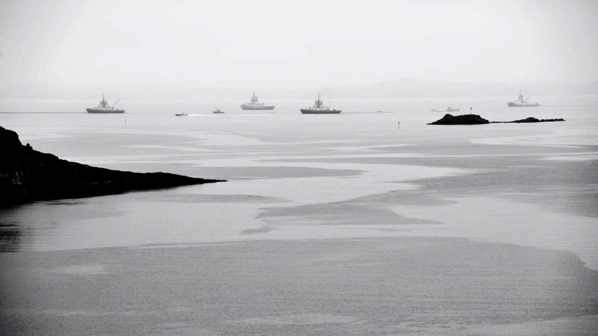 Øvelsen utenfor Langesund blir en av Europas største av sitt slag. Dette illustrasjonsfotoet er hentet fra en tidligere øvelse på Hjeltefjorden.