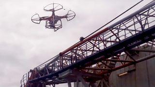 Her utføres den første droneinspeksjonen offshore