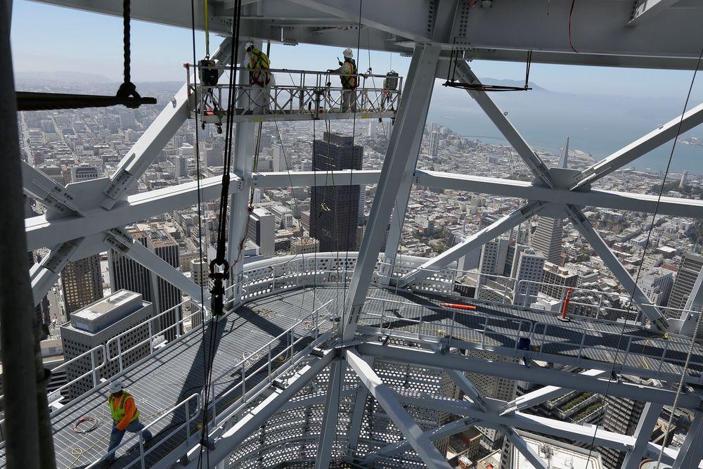 Bare finpussing gjenstår nå før San Franciscos nye og høyeste bygning er ferdig.