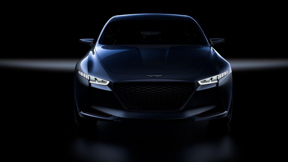Genesis-konseptet New York, som ble presentert i vår. Det er ikke kjent hvordan den kommende elbilen i Genesis-familien skal se ut.