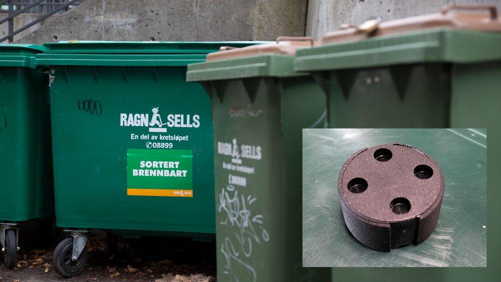 I løpet av kort tid vil 130.000 avfallsdunker i Oslo være utstyrt med denne chippen.