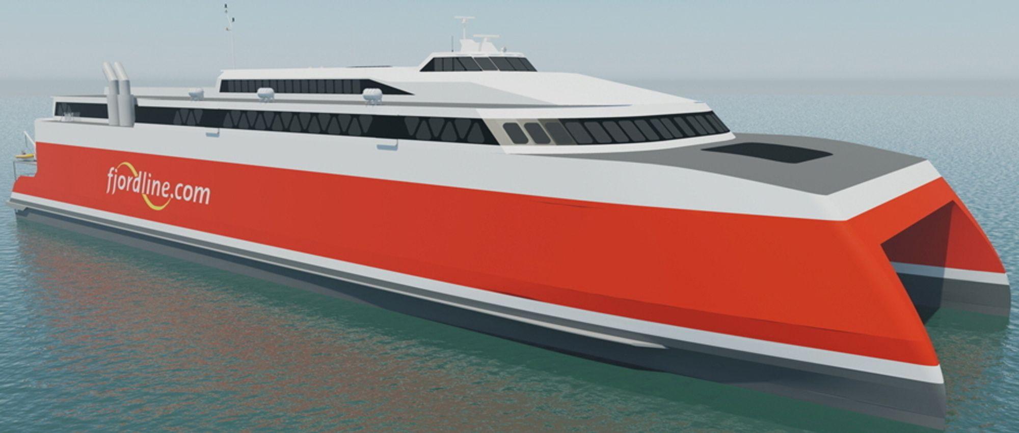 Austal Ships skal levere den 109 meter lange og 30,5 meter brede katamaranen til sommersesongen 2020. Den erstatter HSC Fjord Cat, som har bare halvparten av passasjer- og bilkapasiteten.