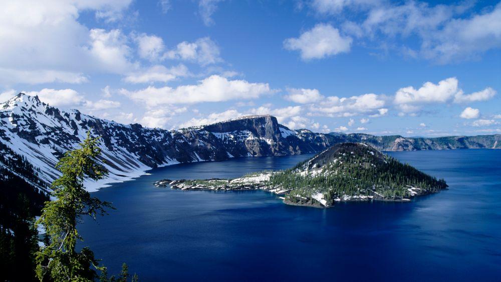 Crater Lake i Oregon er et av områdene hvor litium kanskje kan utvinnes i framtiden.