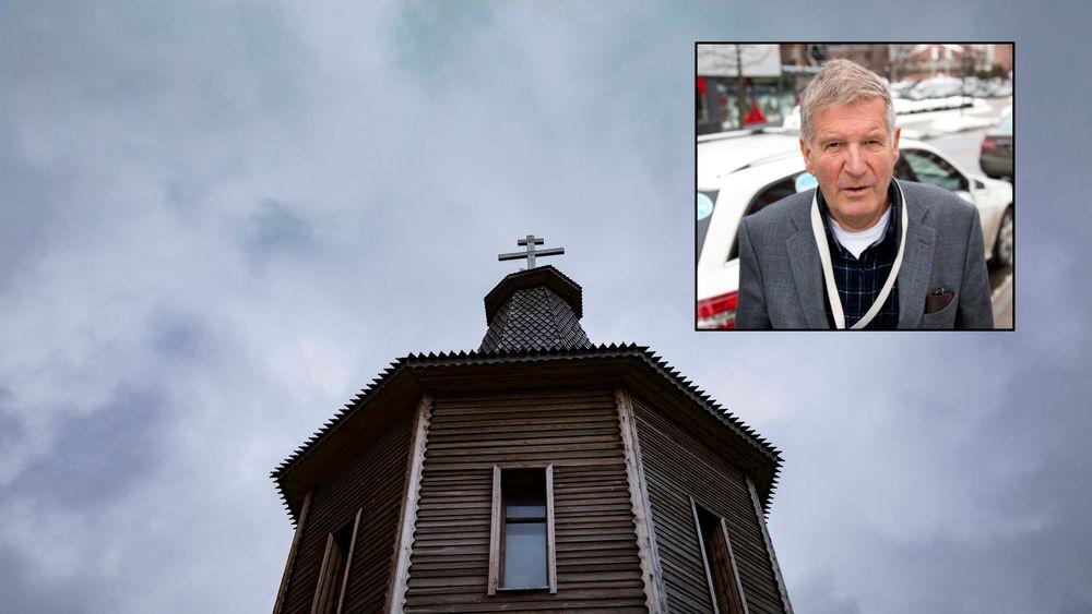 På hvilket grunnlag kritiserer Den norske kirke norsk petroleumsvirksomhet, spør bidragsyter Øystein Noreng. Illustrasjonsbilde fra Svalbard, kirken i Barentsburg.  Foto: KRISTER SÿRBÿ, VG
