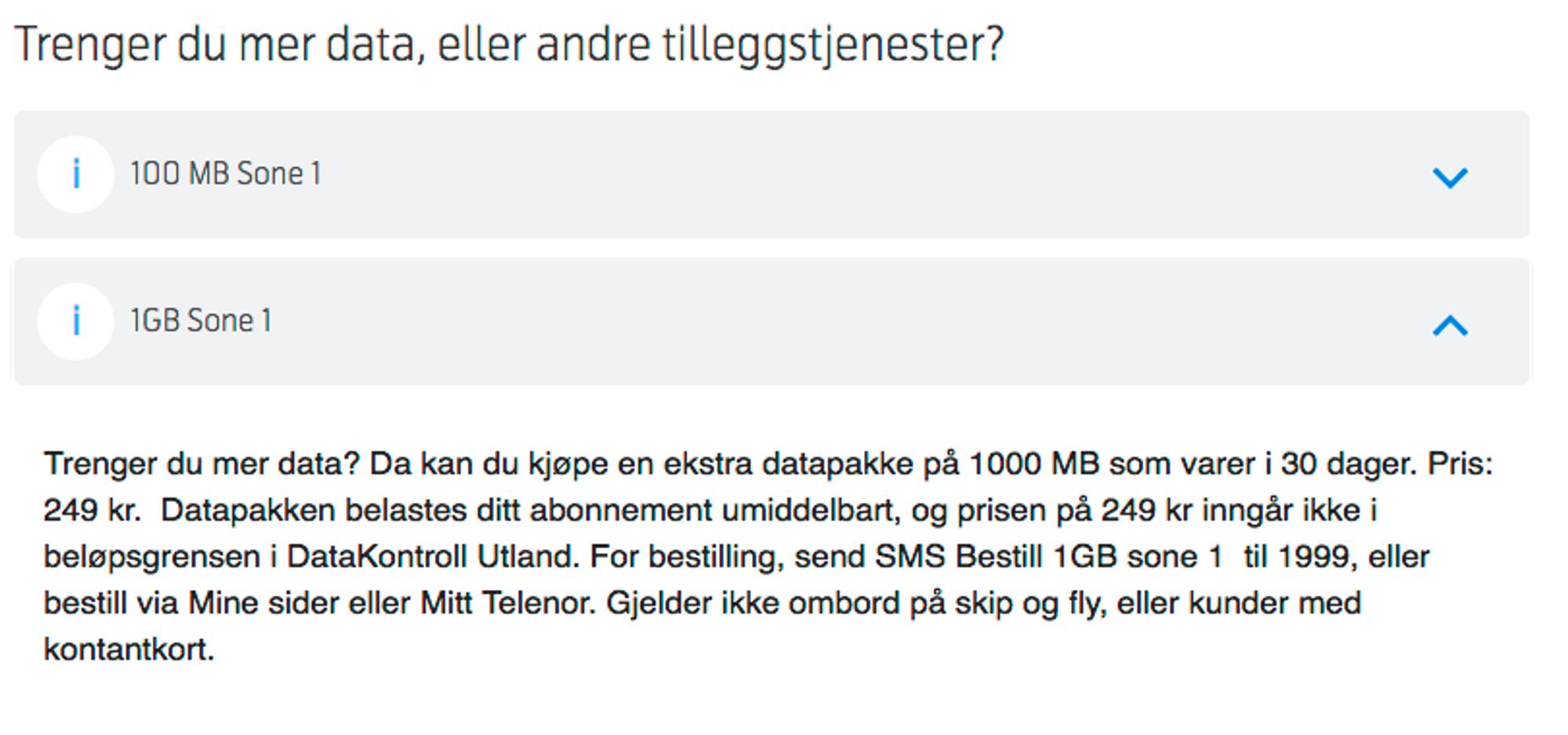 Både Telenor og Telia tilbyr relativt gunstige datapakker når du befinner  deg i utlandet 85f7be2c0d02c