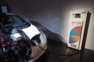 Nissan og Enel samarbeider om pilotprosjekter med V2G flere steder i Europa.