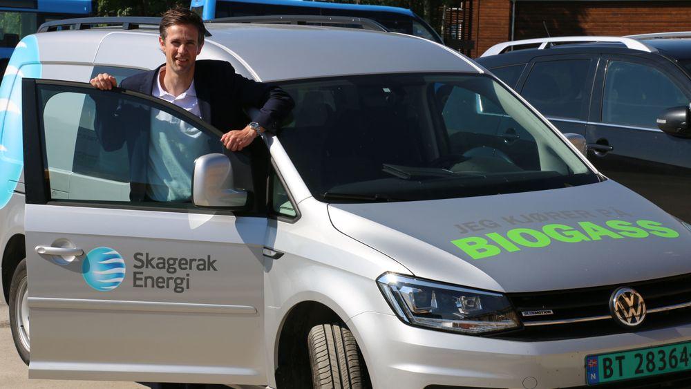Frode Halvorsen, daglig leder i Skagerak Naturgass, får hydrogengiganten Air Liquide som største eier.