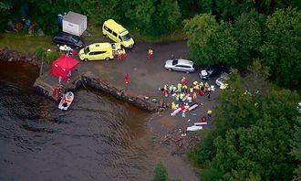 22. JULI: Landsiden ovenfor Utøya, 22. juli 2011. ARKIV