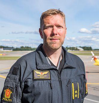 Gunnar Arnekleiv, flygesjef og pilot i politiets helikoptertjeneste.