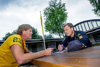 LAGSPILLERE: Bækkelagets Cato Løken og Morten Østraat har hatt mange møter før Norway Cup-uka.