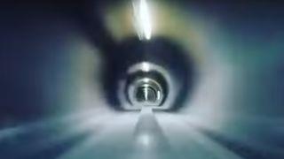 Fartsrekord: Her når kapselen en toppfart på 324 km/t gjennom Hyperloop-banen