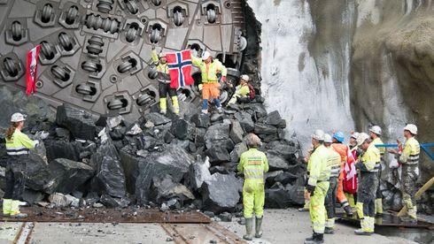 Ulrikke har brutt igjennom – 635 dager etter at tunnelboremaskinen startet