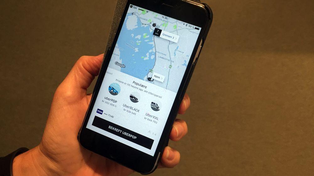 Det er fortsatt mulig å bestille en Uber-bil på kort varsel i Oslo sentrum.