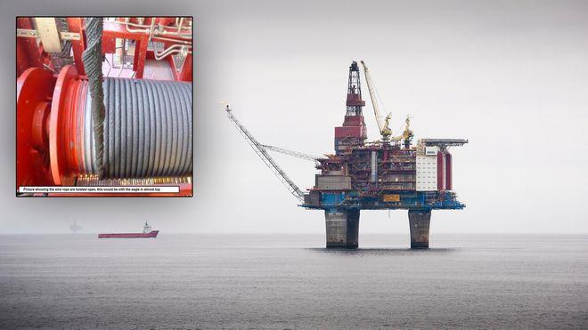 Statoil ble advart flere måneder i forveien. Så deiset over 14 tonn kranbom rett i dekket