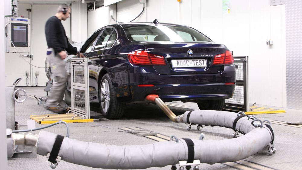 BMW kommer best ut i testen. Her er tidligere avgasstest av BMW 530d.