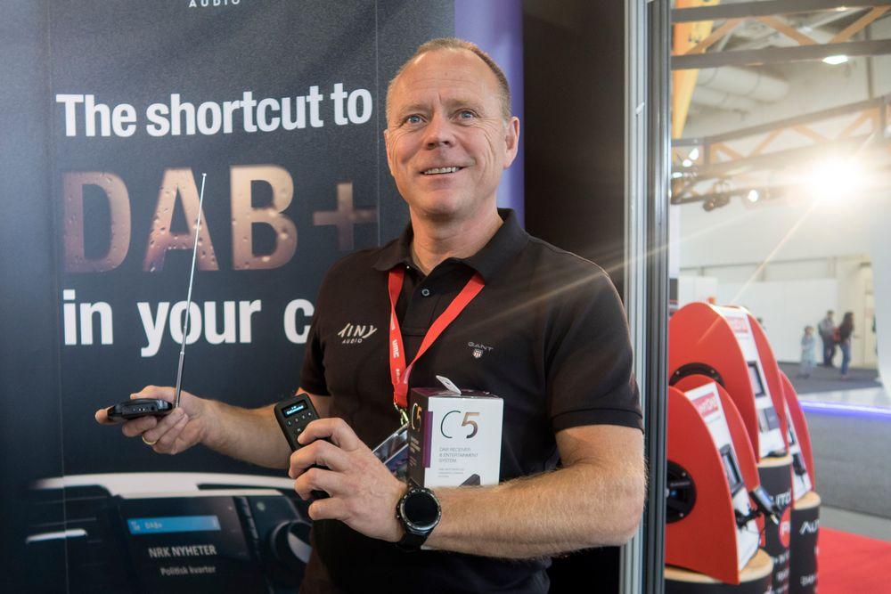 Tom Vedvik: Sjefen for TT Micro, Tom Vedvik har personlig engasjert seg i utviklingen av bedre bilmottak i Norge. Her er han på IFA i Tyskland for å vekke interesse  for de norske løsningene.