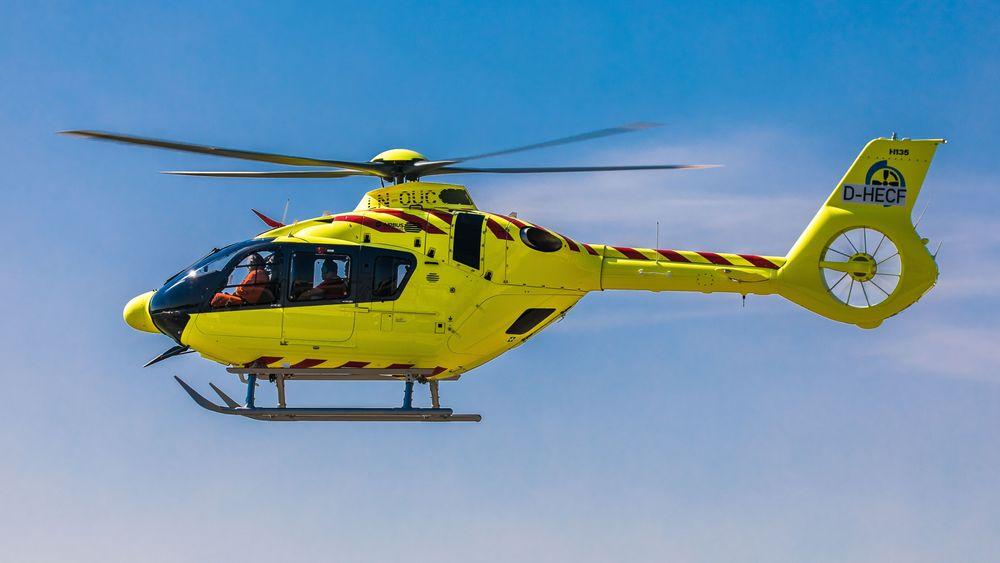 Dette er Norsk Luftambulanses første H135T3 som ble fløyet til Norge torsdag.