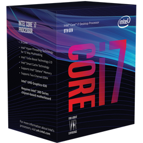 Coffee Lake Core i7-8700K kommer i en slik boks..