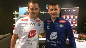 LOKAL PROFIL: Even Hovland vart i september presentert som ny sogndalsspelar. Knappe to månadar seinare kjempar han og klubben for å unngå nedrykk.