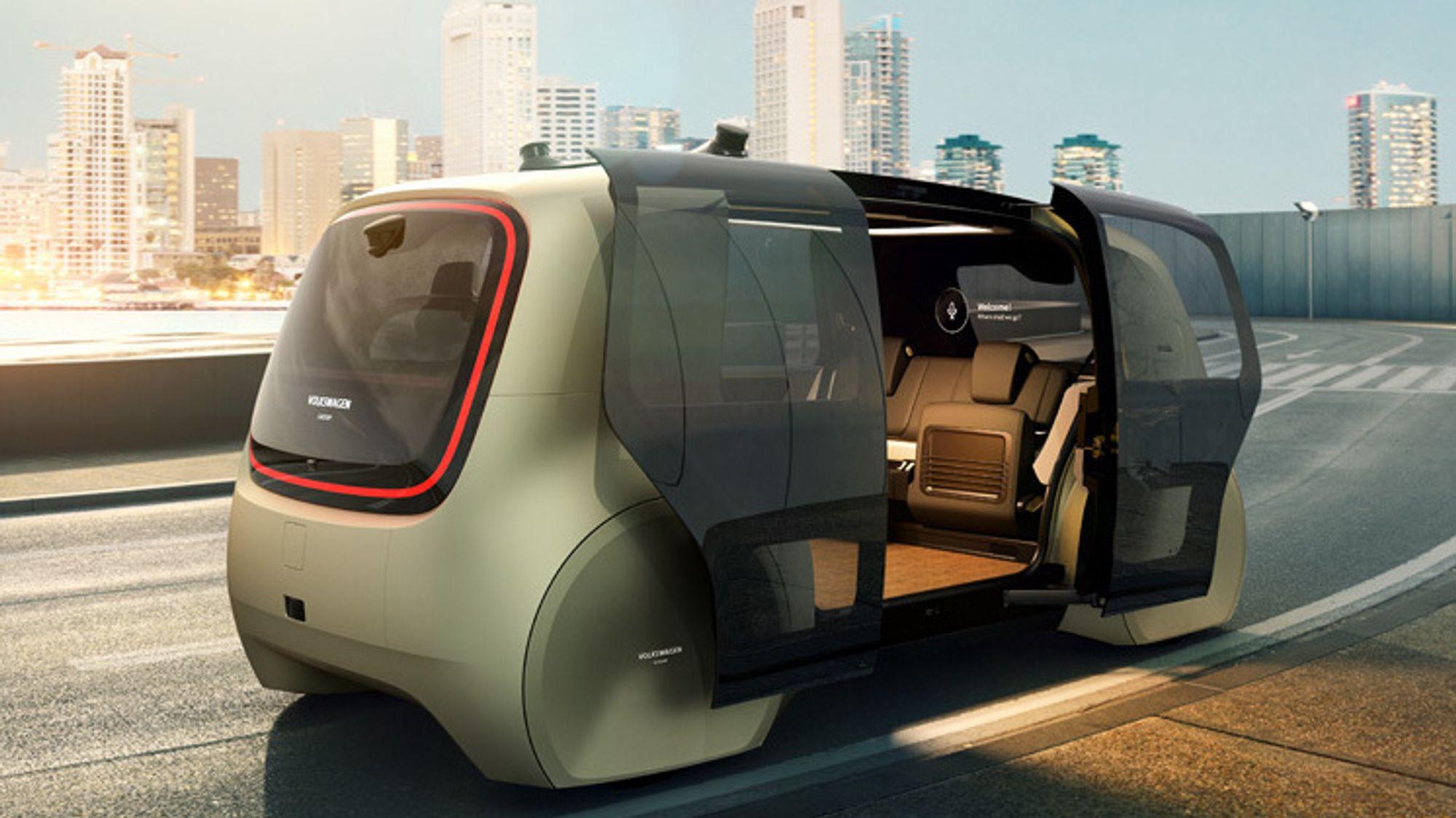 Volkswagen skal starte opp nye pilotprosjekter med sin selvkjørende konseptbil Sedric ved sine fabrikker. Her skal bilen frakte ansatte internt på fabrikkområdet.