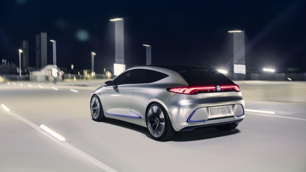 Concept EQA viser hvordan den kommende elektriske kompaktmodellen fra Mercedes-Benz blir.