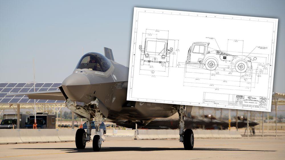 Forsvarsdepartementet handlet inn nye slepetraktorer for å trekke F 35 og nye redningshelikoptere.