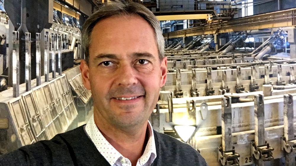Teknologidirektør Hans Erik Vatne, Hydro.