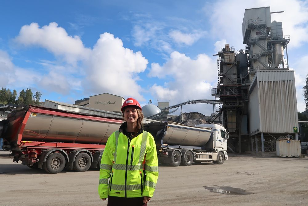 Vil teste ny norsk miljøteknologi:  Siv. ing. Margrethe Ollendorff Lien, er medeier og ansvarlig for innovasjon og forretningsutvikling i Feiring Bruk. De ønsker å  bygge et anlegg basert på Salcapes teknologi for å  rense CO2 fra  asfaltproduksjonen.