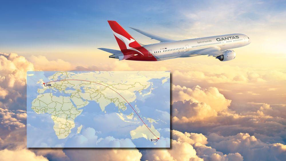 Qantas starter om fem måneder direkteflygning mellom Perth og London med slike Boeing 787-9. Men for å klare å fly til Heathrow fra Sydney, kreves en ny flytype eller modifisering.
