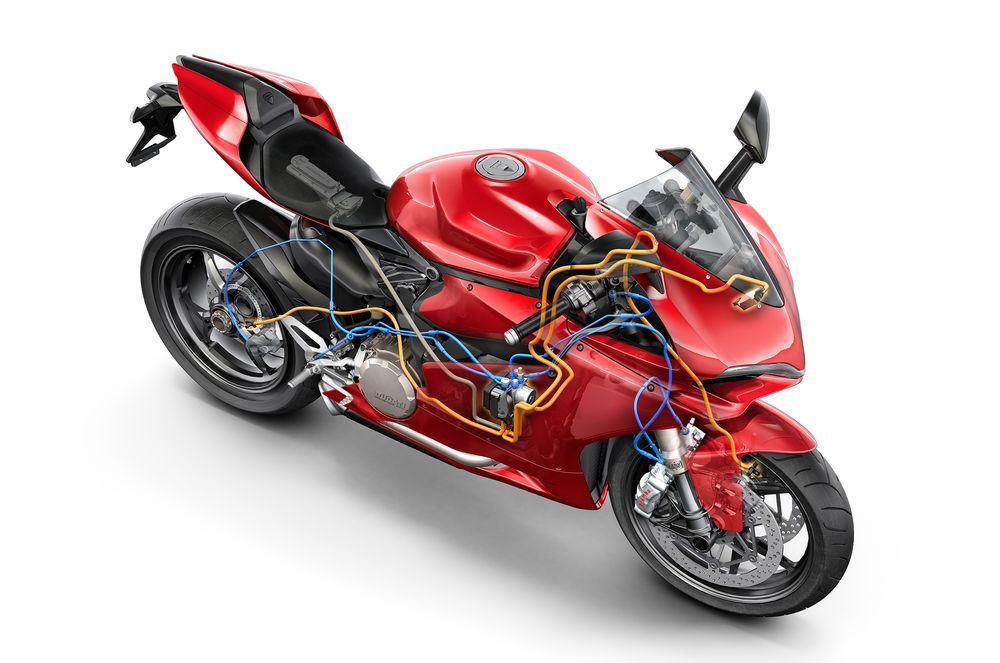 Ducati 1299 Panigale: Airbag er blitt en viktig del av sikkerheten til moderne motorsykler